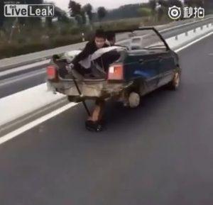 [動画] フロアジャッキを使って走ってみた [マネ厳禁]